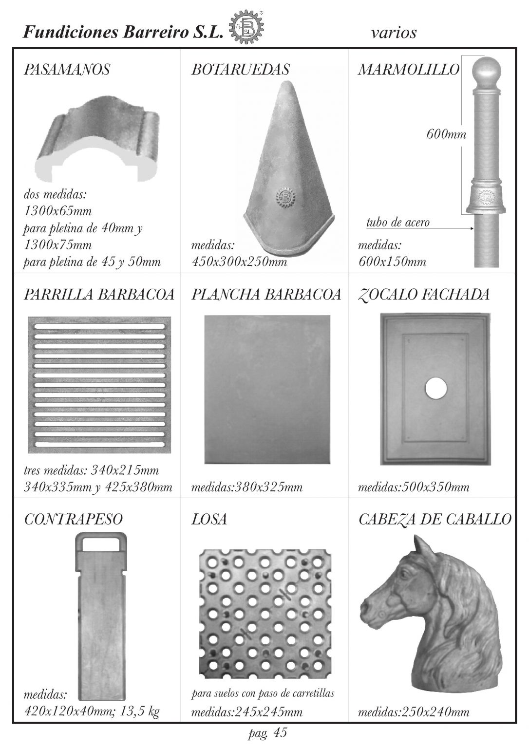 FUNDICIONES BARREIRO-CATALOGO IV-47