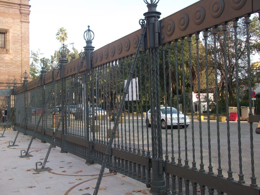 Cerramiento Plaza de España en Sevilla